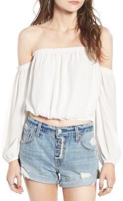 Women's Lush Off The Shoulder Blouse $45 thestylecure.com