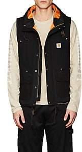 Junya Watanabe Comme des Garçons Men's Canvas Hooded Vest-Black
