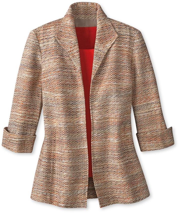 Thrown on tweed jacket
