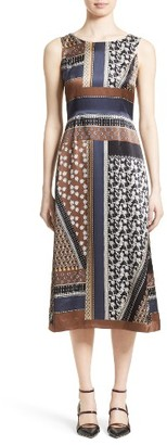 Women's Lafayette 148 New York Sebella Silk Midi Dress $748 thestylecure.com