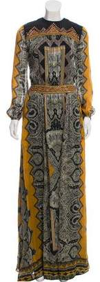 Etro Silk Open Back Dress