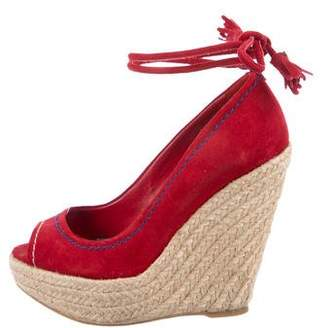 Sergio Rossi Suede Wedge Pumps