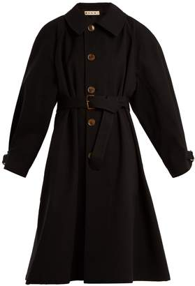 Marni Balloon-sleeved cotton-blend drill coat