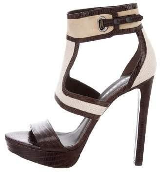 Belstaff Embossed Platform Sandals