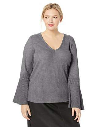 Lucky Brand Women's Plus Size Waffle Thermal TOP