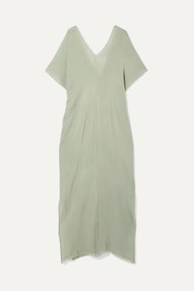 Caravana - Itzanami Fringed Cotton-gauze Maxi Dress - Mint