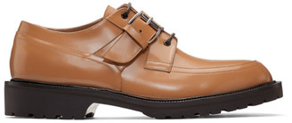 Dries Van Noten Brown Buckle Strap Derbys