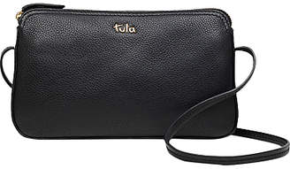 at John Lewis and Partners · Tula Originals Pebbled Leather Cross Body Zip Bag, Pebble Black
