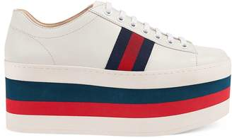 Gucci Leather platform sneaker