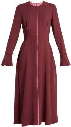 Roksanda Eveline fluted-cuff georgette dress