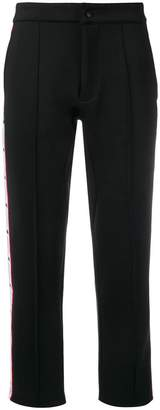 Kappa tailored cropped track trousers