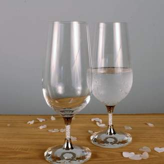Swarovski Diamond Affair Pair Of Water Glasses Filled With Crystals