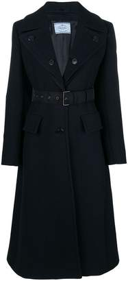 Prada long-sleeve belted coat