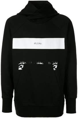 Julius stripe printed hoodie