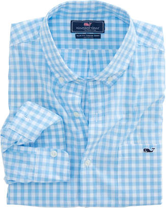 Vineyard Vines Sea Park Gingham Slim Tucker Shirt