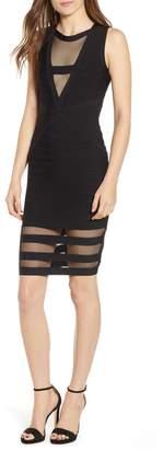 Sentimental NY Illusion Mesh Body-Con Dress