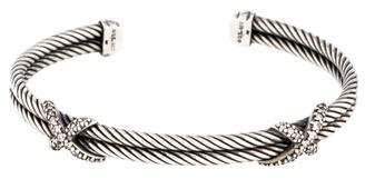 David Yurman Diamond X Station Bracelet