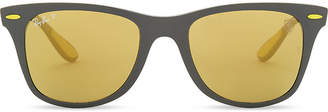 Ray-Ban Rb4195 square-frame mirror lens sunglasses