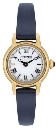 Citizen Ladies' Navy Blue Leather Strap Watch