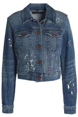 J Brand Painted Denim Jacket