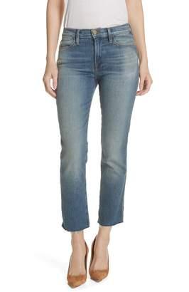 Frame Le High Double Needle High Waist Crop Straight Leg Jeans