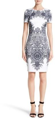 Women's St. John Collection Nellore Print Stretch Satin Dress $995 thestylecure.com