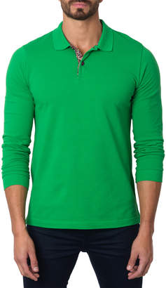 Jared Lang Men's Semi-Fitted Knit Polo