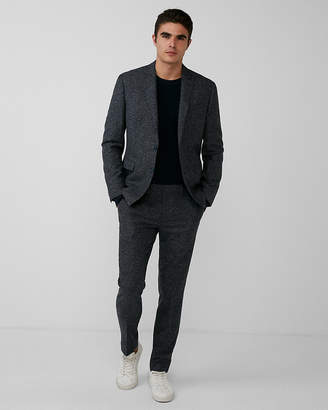 Express Slim Dark Charcoal Wool-Blend Suit Pant