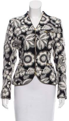 Alexander McQueen Zip Trim Embroidered Jacket