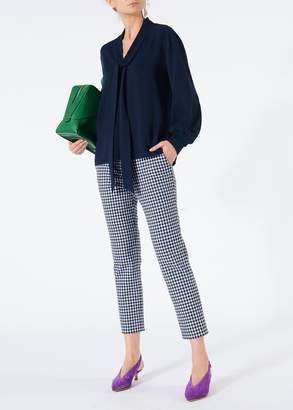 Tibi Gingham Beatle Cropped Pants