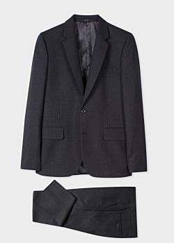 Paul Smith The Soho - Men's Tailored-Fit Charcoal Grey Wool 'A Suit To Travel In'
