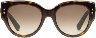 Cat eye acetate sunglasses $410 thestylecure.com