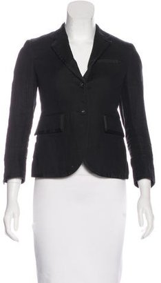 Thom Browne Woven Button-Up Blazer $545 thestylecure.com