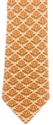 Hermes Silk Umbrella Print Tie