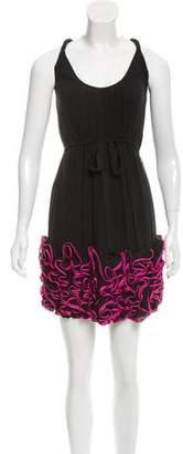 Yoana Baraschi Ruffled Silk Dress