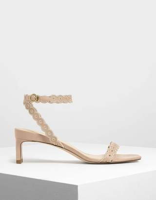Charles & Keith Circle Detail Ankle Strap Heels