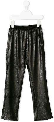 Le Mu elasticated waistband sequinned trousers