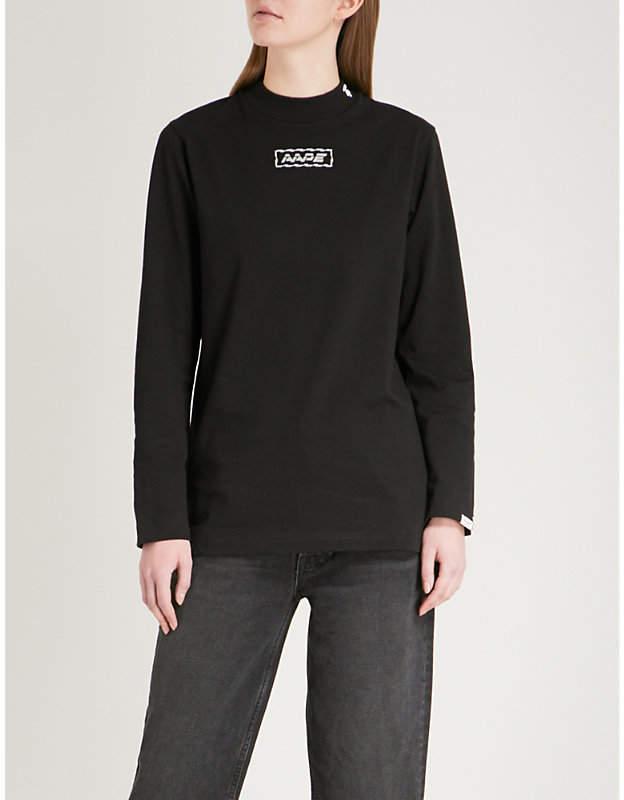 Aape Logo-embroidered cotton-jersey sweatshirt