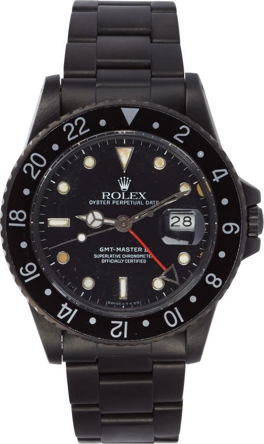 Black Limited Edition Matte Black Limited Edition Rolex GMT Master II Watch