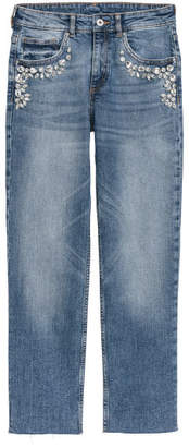 H&M Jeans with Rhinestones - Blue
