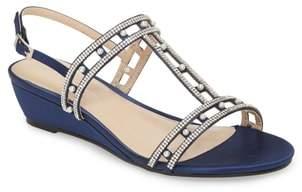 PARADOX LONDON PINK Kamara Embellished Wedge Sandal