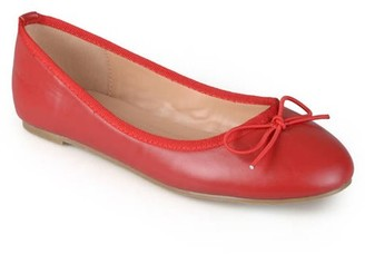 Brinley Co. Women's Classic Bow Round Toe Casual Ballet Flats