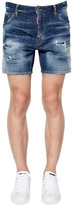 DSQUARED2 Dan Commando Cotton Denim Shorts