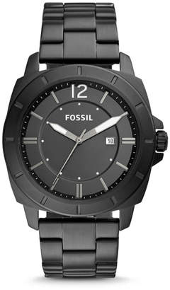 Fossil Privateer Sport Three-Hand Date Black Stainless Steel Watch