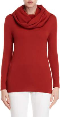 Giambattista Valli Red Cowl Neck Wool Sweater