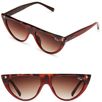 Quay Sophia Richie Run Away Narrow Cat Eye Sunglasses