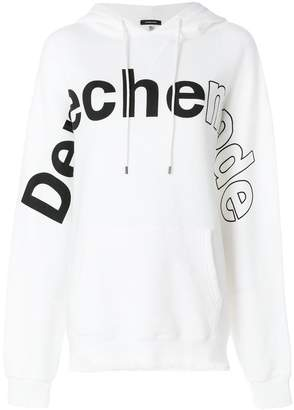 R 13 Depeche Mode raw hem hoodie