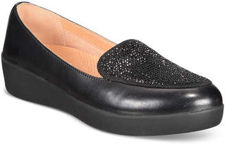 FitFlop Crystal Platform Loafers Women Shoes