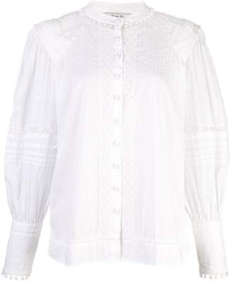 Sea embroidered blouse
