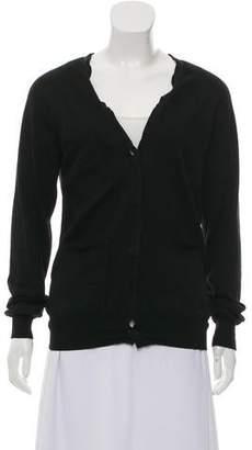 Lanvin Wool Long Sleeve Cardigan